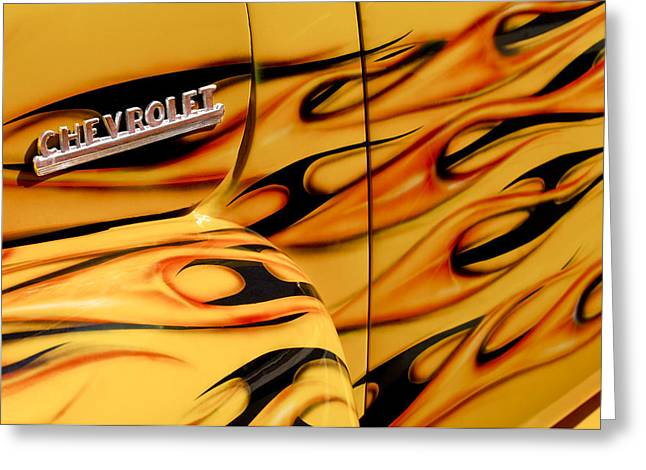 1952 Chevrolet Pickup Truck Emblem Greeting Card by Jill Reger
