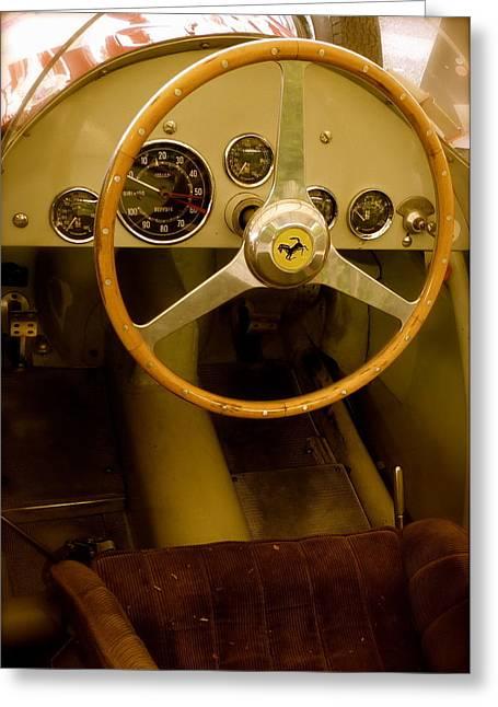 1952 Ferrari 500 625 Cockpit Greeting Card by John Colley