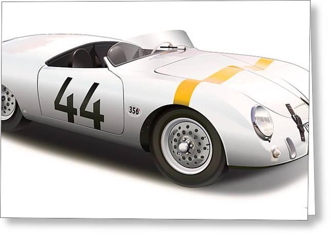1953 Porsche Glockler Greeting Card by Alain Jamar
