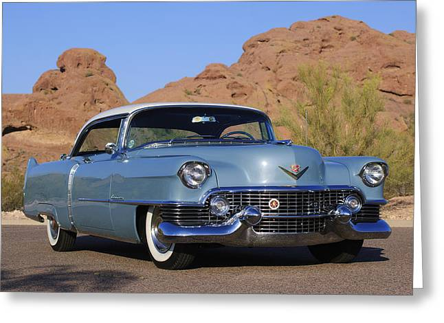 1954 Cadillac Coupe Deville Greeting Card by Jill Reger