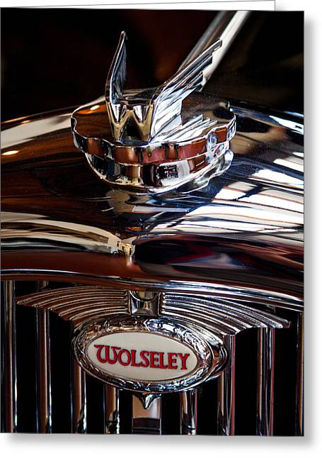 1954 Wolseley 6 80 Police Car Greeting Card