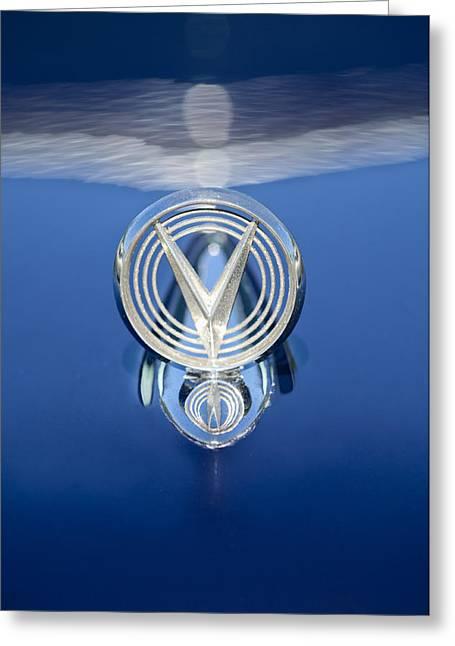 1955 Buick Century Wagon Hood Ornament Greeting Card