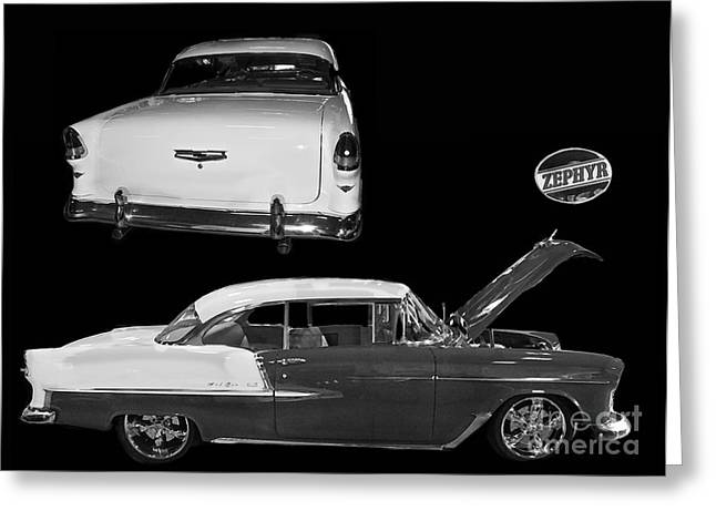 1955 Chevy Bel Air 2 Door Hard Top Greeting Card by Tim Mulina