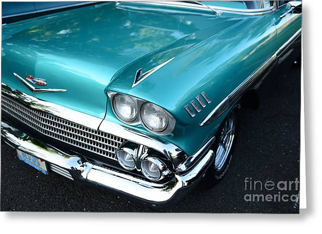 1955 Chevy Belair Front End Greeting Card by Paul Ward