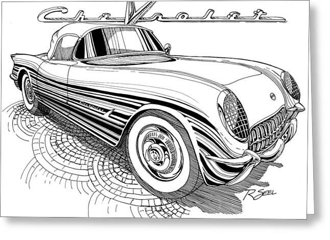 1955 Corvette Greeting Card