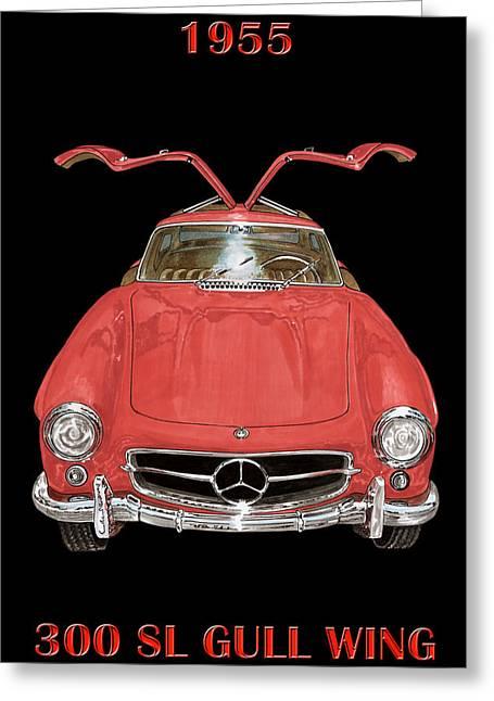 1955 Mercedes Benz 300sl Gull Wing  Greeting Card by Jack Pumphrey