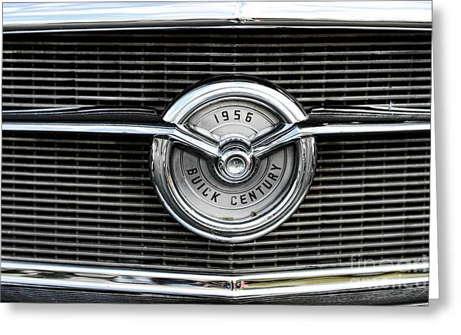 1956 Buick Century Grill Emblem Greeting Card