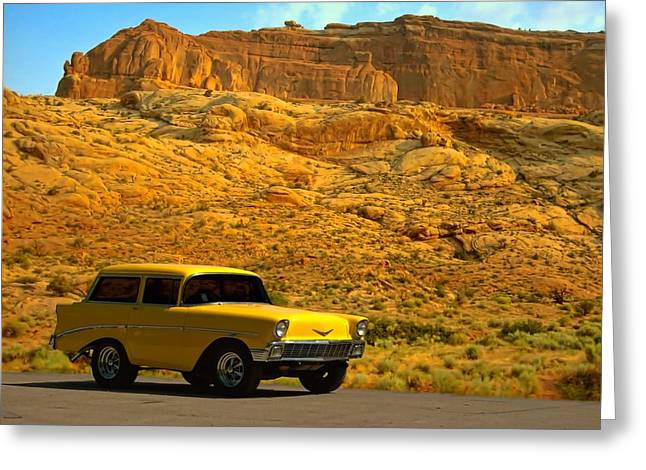 1956 Chevy Wagon Short Stuff  Greeting Card by Tim McCullough