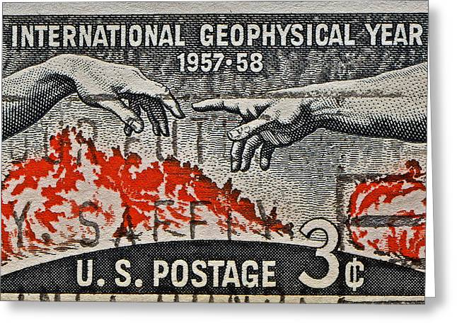 1957-1958 International Geophysical Year Stamp Greeting Card