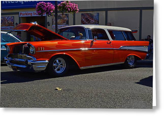 Greeting Card featuring the photograph 1957 Belair Wagon by Tikvah's Hope