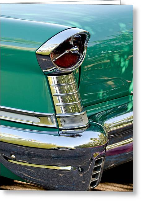 1957 Oldsmobile 98 Starfire Convertible Taillight Greeting Card by Jill Reger