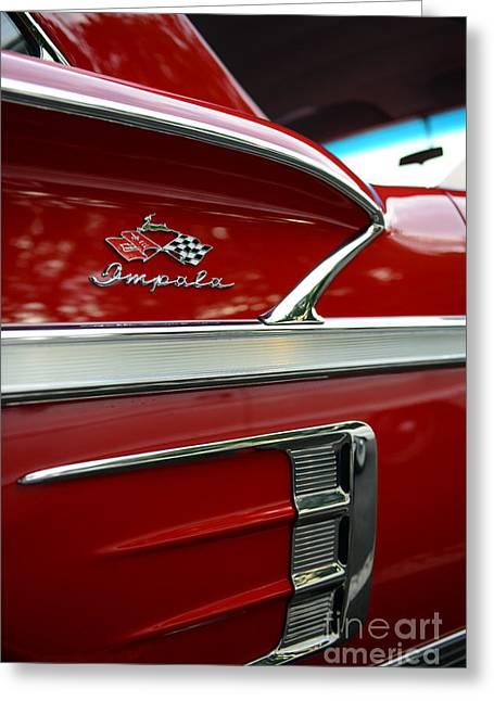 1958 Impala Red  Greeting Card by Paul Ward