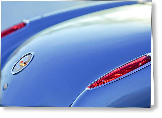 1959 Chevrolet Corvette Taillight Emblem Greeting Card by Jill Reger