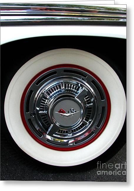 1959 Chevrolet Impala Rim Greeting Card