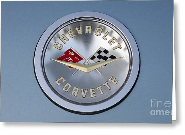 1959 Corvette Emblem Greeting Card by Paul Ward