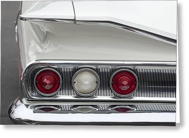 1960 Chevrolet Impala Tail Lights Greeting Card by Jill Reger