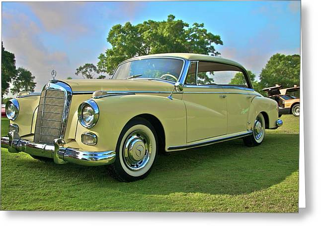 1960 Mercedes 300 Hardtop Sedan Greeting Card by Mike  Capone