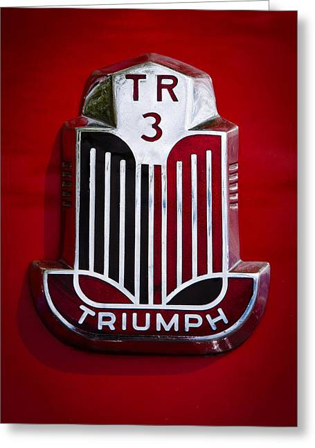 1960 Triumph Tr3a Greeting Card by David Patterson