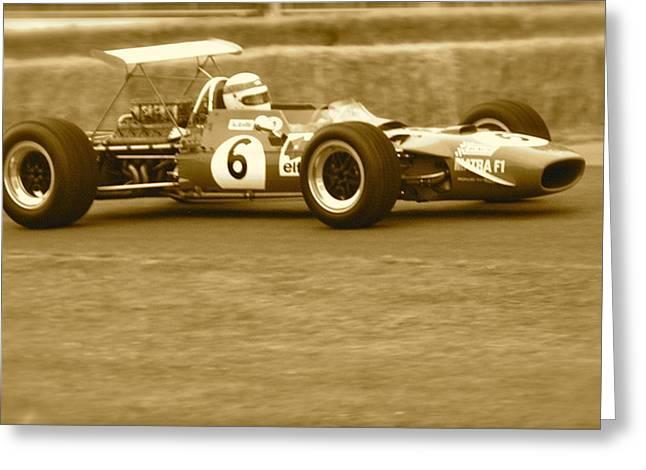 1960s Matra F1 Greeting Card by John Colley