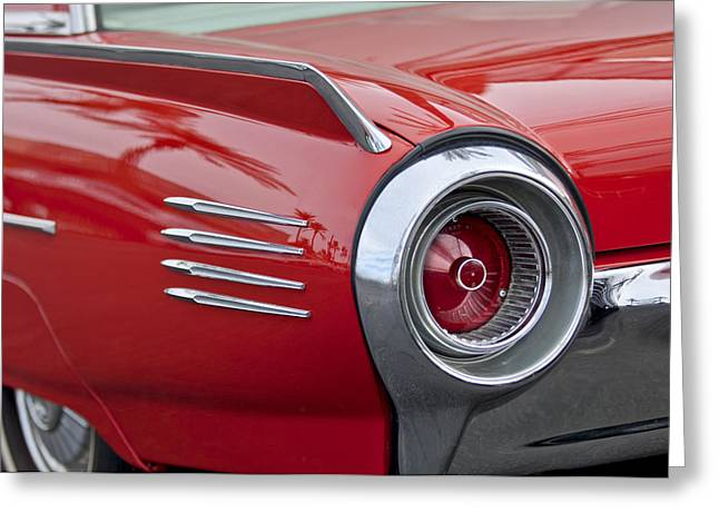 1961 Ford Thunderbird Taillight Greeting Card by Jill Reger