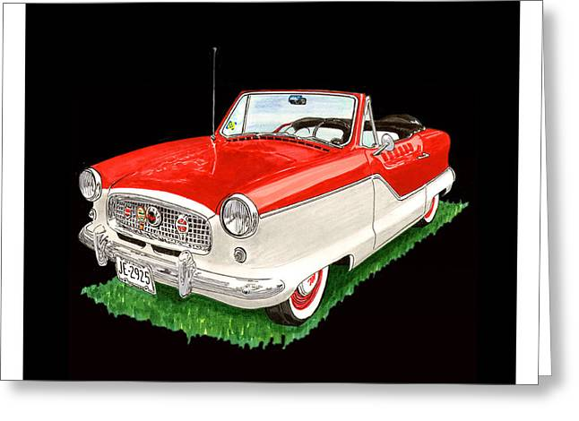 1961 Metropolitian Convertible 1961 Greeting Card by Jack Pumphrey