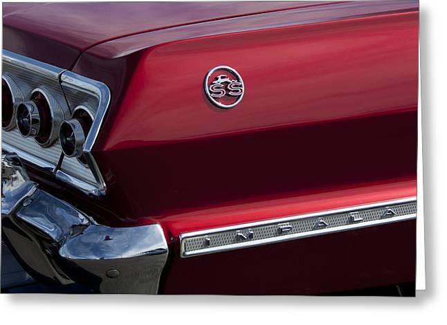 1963 Chevrolet Impala Ss Taillight Greeting Card by Jill Reger