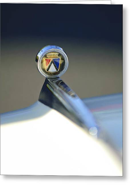 1963 Ford Futura Hood Ornament Greeting Card