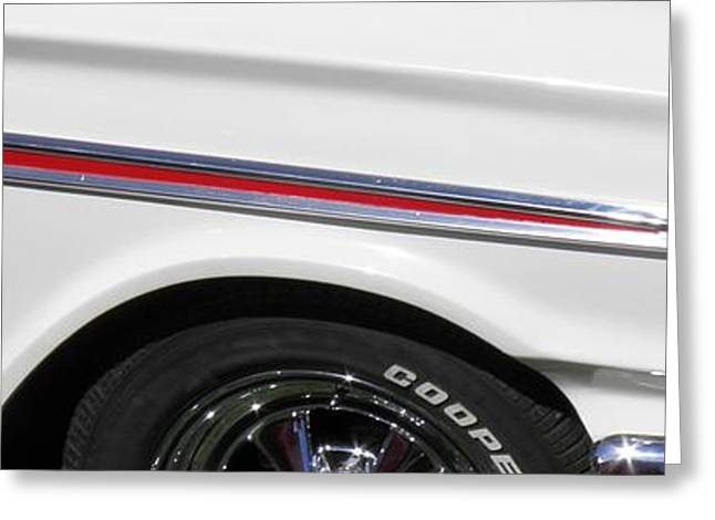 1964 Ford Fairlane 500 Classic Car Panoramic Greeting Card by Sven Migot