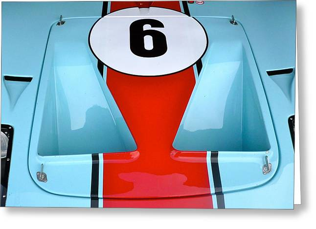 1965 Ford Gt40 Hood Detail Greeting Card by John Colley