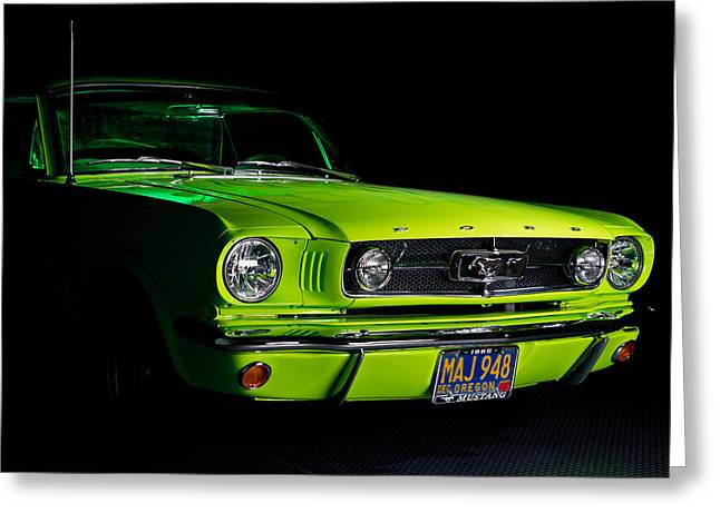 Greeting Card featuring the photograph 1965 Ford Mustang by Jim Boardman