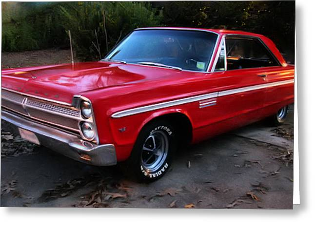 Greeting Card featuring the photograph 1965 Plymouth Fury by Elizabeth Coats