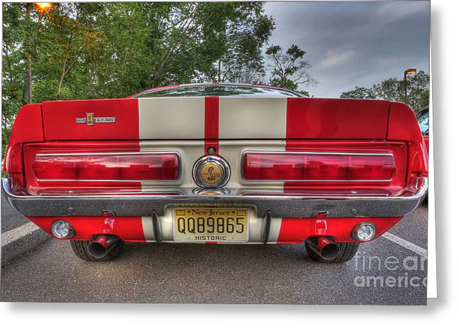 1965 Shelby Gt 500 In Red Greeting Card by Lee Dos Santos