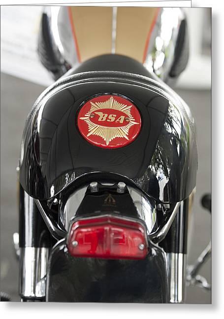 1966 Bsa 650 A-65 Spitfire Lightning Clubman Motorcycle Greeting Card by Jill Reger
