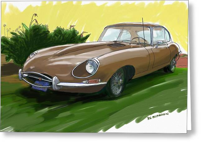 1966 Jaguar Xke Greeting Card