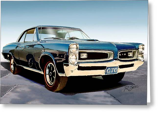 1966 Pontiac Gto Greeting Card by Rod Seel