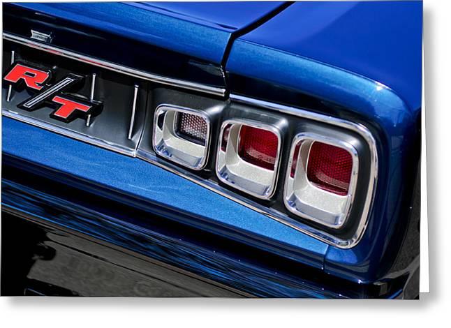 1968 Dodge Coronet Rt Hemi Convertible Taillight Emblem Greeting Card by Jill Reger
