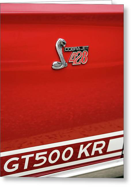 1968 Ford Mustang Gt500 Kr - King Of The Road Greeting Card by Gordon Dean II
