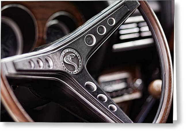 1969 Ford Mustang Shelby Cobra Gt500 Steering Wheel Greeting Card