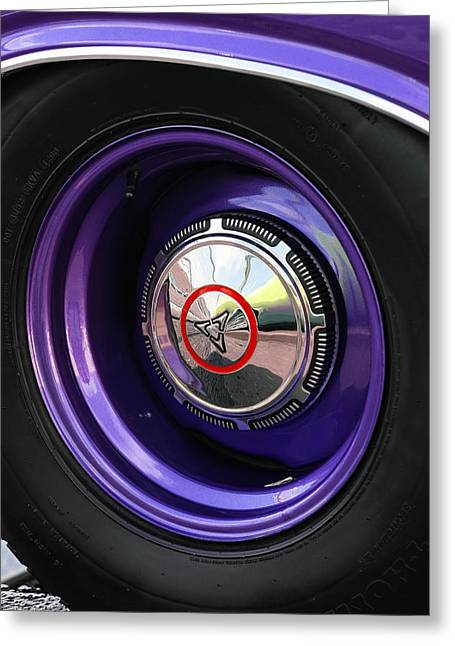 1970 Dodge Challenger Rt Wheel Greeting Card