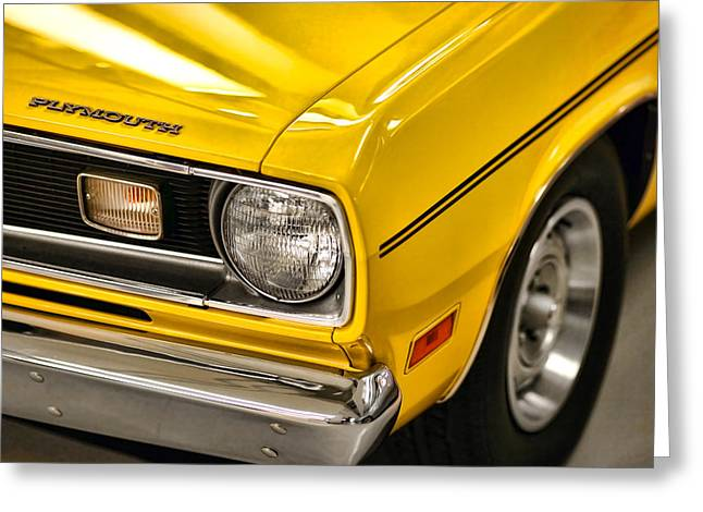 1970 Plymouth Duster 340 Greeting Card by Gordon Dean II