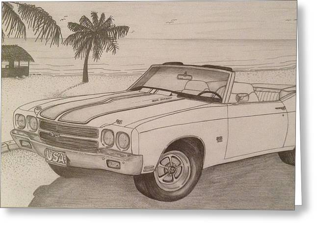 1970 Ss Chevelle Ls6 Greeting Card by Peter Griffen
