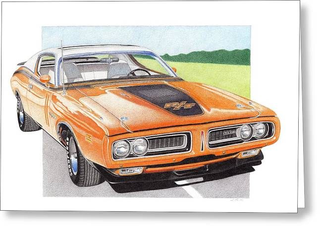 1971 Dodge Charger Rt Greeting Card by James Robert