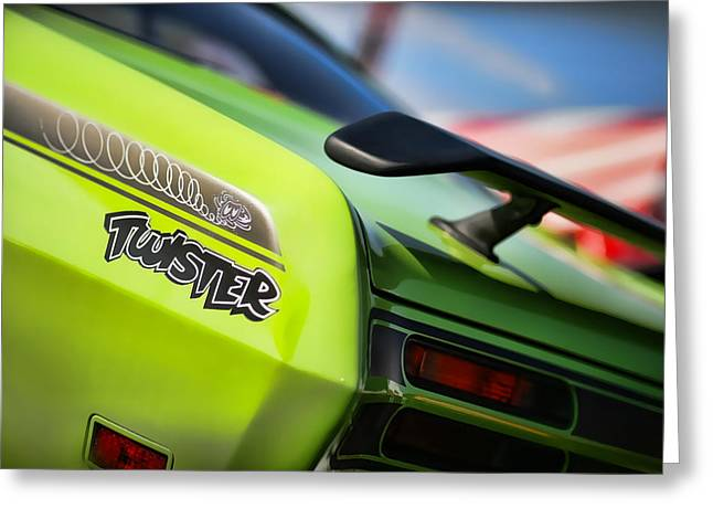 1971 Plymouth Duster Twister Greeting Card by Gordon Dean II