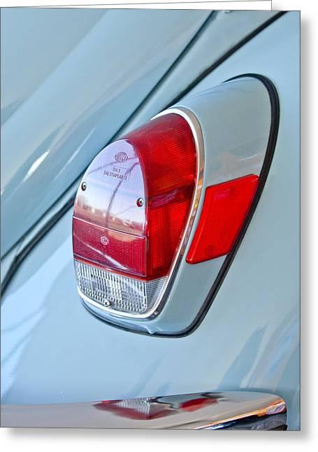1971 Volkswagen Vw Beetle Taillight Greeting Card by Jill Reger