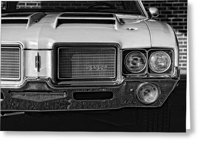 1972 Olds 442 Black And White  Greeting Card by Gordon Dean II