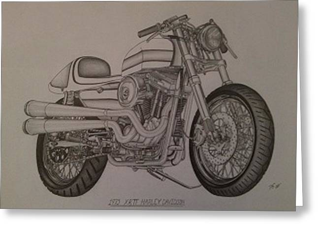 1973 Harley-davidson Xrtt Greeting Card by Peter Griffen