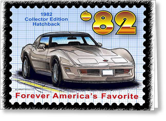 1982 Collector Edition Hatchback Corvette Greeting Card
