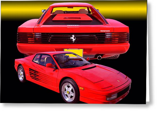 1990 Ferrari Testarossa Greeting Card
