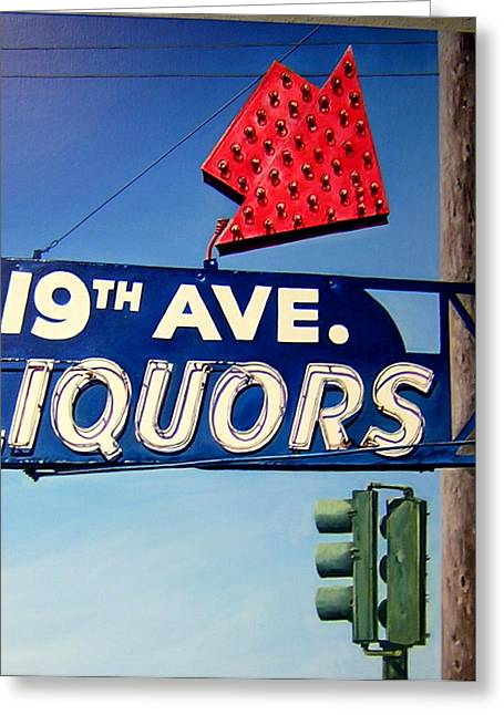 19th Ave Liquors Greeting Card by Jim Gleeson