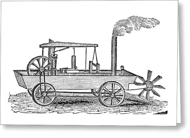 19th Century Amphibious Vehicle, Artwork Greeting Card by Library Of Congress